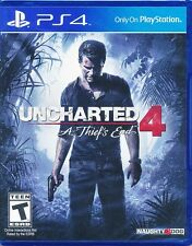 Uncharted 4 A Thief's End PS4 Game NEW US version (English Portuguese Spanish)