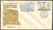 1958 Philippines INAUGURATION OF MANILA CATHEDRAL First Day Cover - B