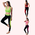 Women Yoga Set Running Bra & Pants Gym Workout Fitness Clothes Tights Sport