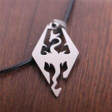 New Arrivals Skyrim Dragon Pendant 316L Stainless Steel Necklace Free Chain