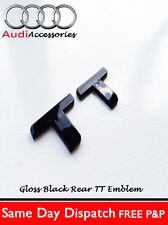 AUDI TT BLACK REAR BADGE TTRS 1.8T 225 QUATTRO MK12 2.0T SPORT COUPE FSI TDI V6