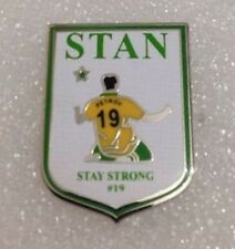 **NEW** Stan Petrov 'Stay Strong' enamel pin badge. #19,Celtic FC,CFC,Leukaemia