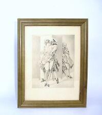 Erotische Kunst Radierung um 1910 Erotika signiert