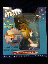 M&M Licensed Umbrella Shower Radio NIB