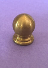 "5/8"" Unfinished plain solid brass knob finial 1/8F IPS (3/8"" hole) lamp parts"