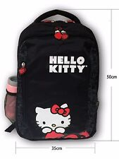 "Hello Kitty Backpack School Back Pack Style 15.4"" Laptop Bag Black 13620425 NWT"