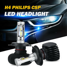 2x H4 HB2 9003 PHILIPS CSP LED Car Headlight Hi/Lo Beam Bulbs 180W 18000LM 6500K