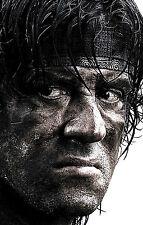Lámina-Rambo (Foto De Cine Película De Arte, Dvd, Blu-ray Stallone Rocky Actor)
