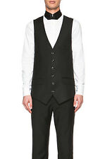 Alexander McQueen Men's Tuxedo Wool Satin Vest for Suit EU 50 US 40 NWT $865
