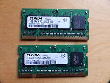 2 x 1 GB DDR-2 RAM (800 MHz) für Notebook Elpida 6400S