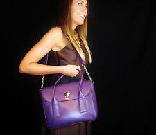 Kate Spade Stunning DEEP PURPLE Bond Street Florence Shoulder Bag Satchel Purse