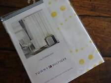 Tommy Hilfiger CALIFORNIA DOT YELLOW White Fabric SHOWER CURTAIN