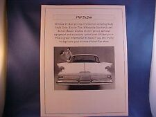 1961 DeSoto factory wholesale cost/dealer sticker prices for base car+options $$