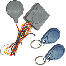Motorcycle Invisible alarm system is with RFID transponder tags anti grab code