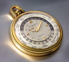 PATEK PHILIPPE | RETAILED BY GÜBELIN: AN IMPORTANT AND RARE YELLOW GOLD OPEN-...