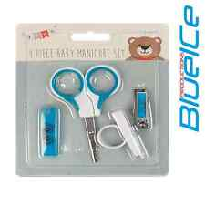 Baby New Born 1st Years Hair Nail Grooming Essential Set Kit Scissors BLUE