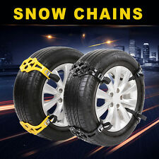 4pcs/Set Car Snow Tire Anti-skid Chains Beef Tendon Wheel Antiskid TPU Chain