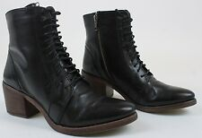 Kelsi Dagger Brooklyn KDB Womens Goodwin Lace Up Boots Black 8 New