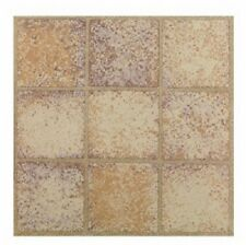 "30 pack Max Co KD0201 12"" x 12"" Sandstone Squares Peel & Stick Floor Tiles"