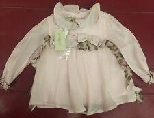 Roberto Cavalli Baby Blouse W/ Bow Lt Pink 12M
