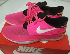 Nike Solarsoft Moccasin sz 7 PINK FLASH / WHITE-BLK-ATMC ORNG -714