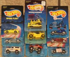 9-Hot Wheels 1987-89 Classics,Trailbusters,Workhorses,Speed Fleet Nissan, Bronco