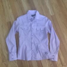 G-STAR RAW WOMEN'S Rodeo Lilac Purple SLIM SHIRT SIZE M NWT Vintage