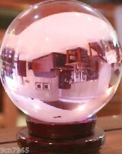 80MM Huge Asian Rare Natural Quartz Pink Magic Crystal Healing Ball + Stand
