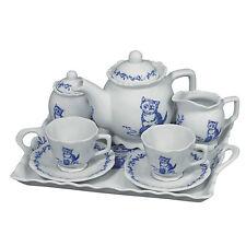 Andrea by Sadek Porcelain Breakfast Tea Set for 2  BLUE KITTEN
