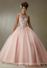 Wedding Quinceanera Dress Ball Beaded Bridal Cocktail Party Prom Dresses Custom