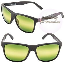 GUCCI GG 1047/B/S DL5CJ Square Men's Sunglasses Black Green Striped Lenses