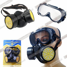 2014  Respirator Breathing Gas Mask Goggles Kit Twin Spray Paint Dust Filter