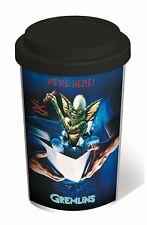 Gremlins - Stripe - Double Wall Ceramic Travel Mug With Silicon Lid