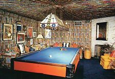 Elvis Presley, The Pool Room at Graceland , Memphis TN, Billiard Table Postcard