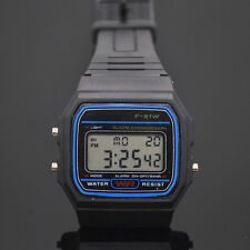 Reloj de pulsera, Digital F-91W Black, #800, multifuncion, Relojes