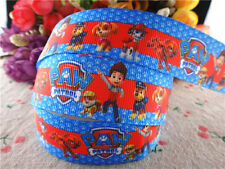 2M X 22MM NICK JR PAW PATROL GROSGRAIN RIBBON FOR CAKE'S CRAFT CARDS blue edge