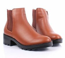 "New Formal Slip On Only Expandable Opening 2"" High Heels Womens Ankle Boots"
