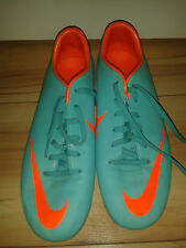 Boys / Mens Football Boots - Nike Mercurial - Neo Green & Orange - 4 UK 4.5Y US