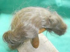 "doll wig mohair light brown 11"" to 11.5"", half length/vintage/Germany"