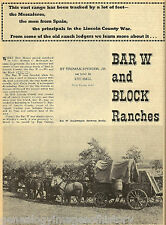 New Mexico Ranches W/ Genealogy Of Cowhands