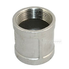 """1.125"""" 1 1/4"""" female to F 304 Stainless Steel threaded coupling Pipe Fitting NPT"""
