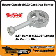 "Cast Iron 5.5"" High Pressure Direct Replacement Burner for Bayou Square Frames"