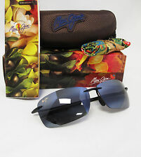 New Maui Jim Polarized Lighthouse Gloss Black / Neutral Grey Sunglasses 423-02