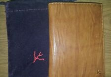 NWT Isaia Leather  vertical card holder retail 499