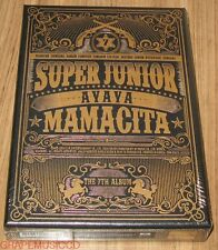SUPER JUNIOR SuperJunior MAMACITA 7TH ALBUM CD + PHOTOCARD POSTER IN TUBE CASE