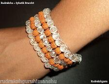 Rudraksha Sphatik Bracelet / Spahtik Rudraksha Bracelet