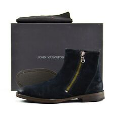 Men's JOHN VARVATOS Mitchel Raw Edge Side Zip Boots 10 D NWT $375
