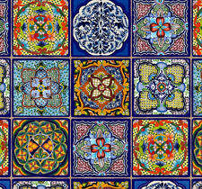 Fiesta Mexican Tiles ~ Elizabeth's Studios~100% Cotton, Sewing, Quilting, Panel
