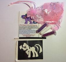MINI GLITTER Tattoo Kit Party Bag Filler My Little Pony 2 brillantini 1 MIDI STEN