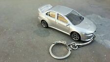 Diecast Mitsubishi Evolution X ( 10 ) Silver Toy Car Keyring   NEW